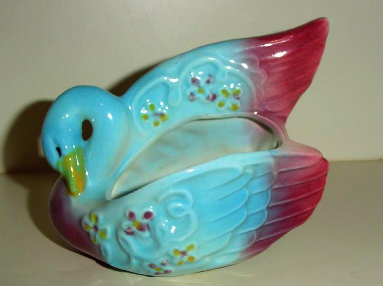 Swan Pottery Planter