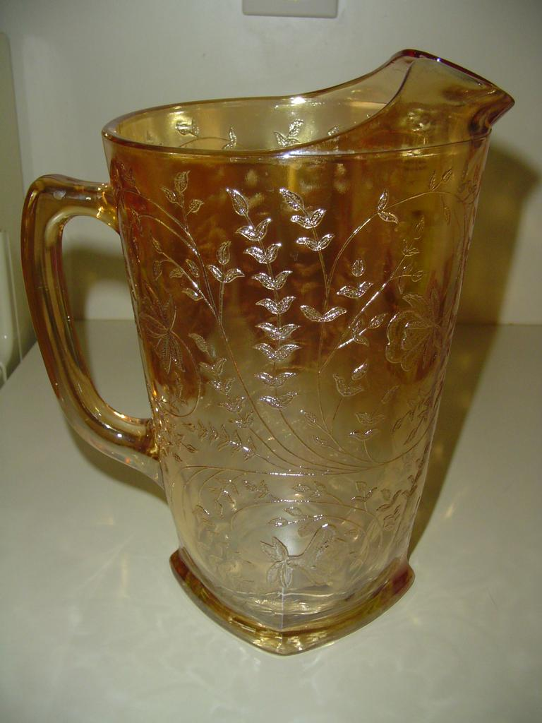 Jeannette Glass 'Floragold Louisa' Pitcher
