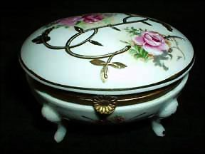 Amart Import Porcelain  Roses Sachet Box