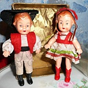 Twin Celluloid German Dolls
