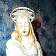 Vintage Madonna with Child Planter