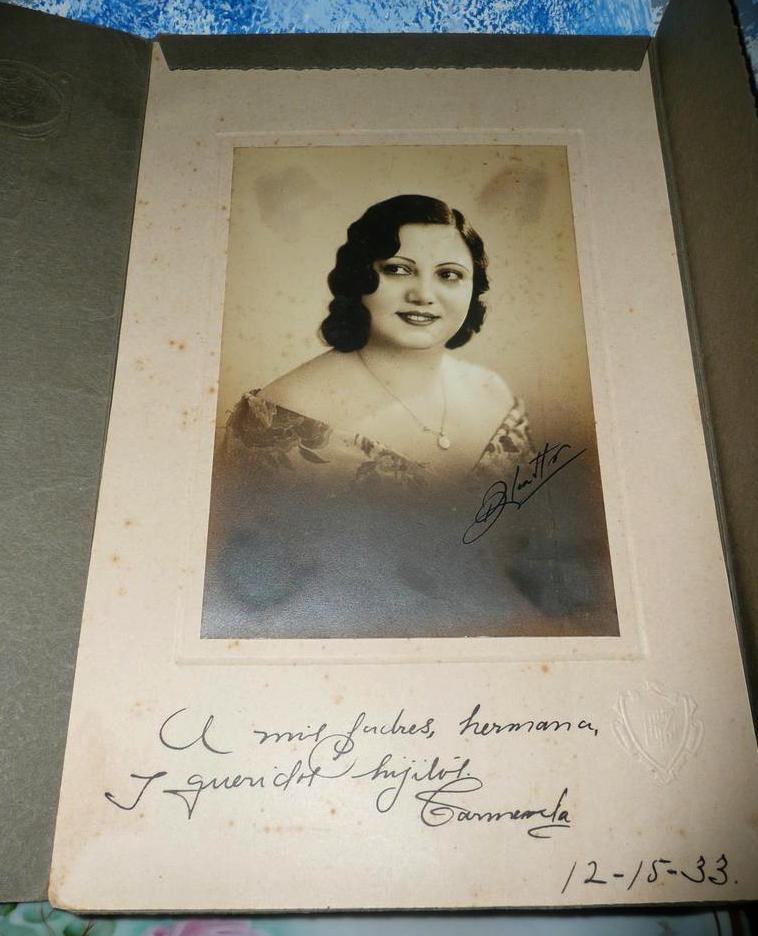 Vintage Cuban Lady Picture 1933