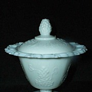 Harvest Grape Milk Glass Dish