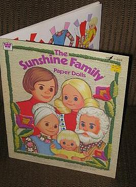 1977  Uncut Sunshine Family Paper Dolls