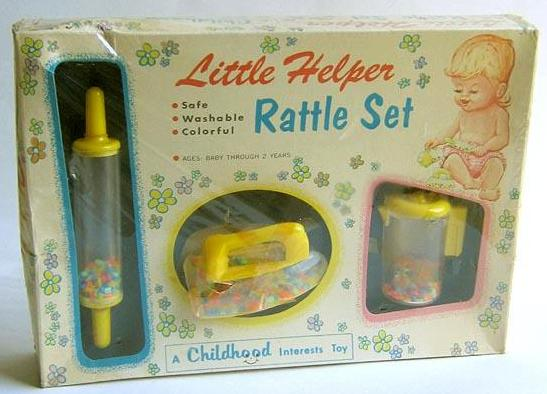 Little Helper Rattle Set 1950's New in Box
