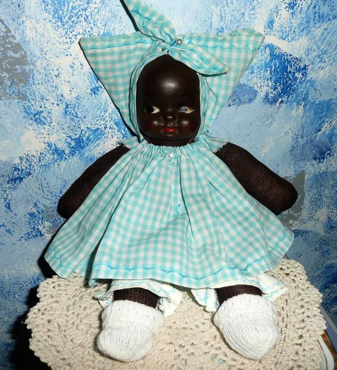 Beautiful Black Americana Face Mask Doll *Mint