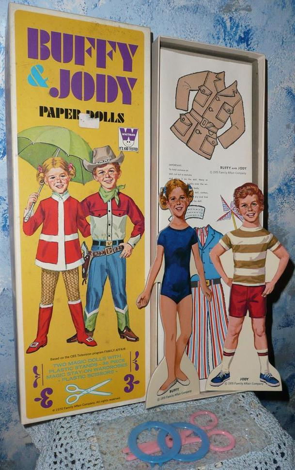 1970 Whitman BUFFY & JODY Paper Dolls *Mint!