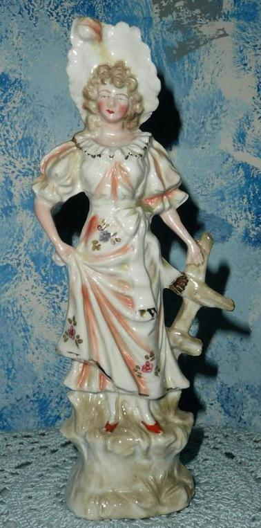 Vintage German Porcelain Victorian Lady