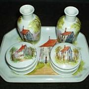 Rustic Cabin Porcelain Dresser Set