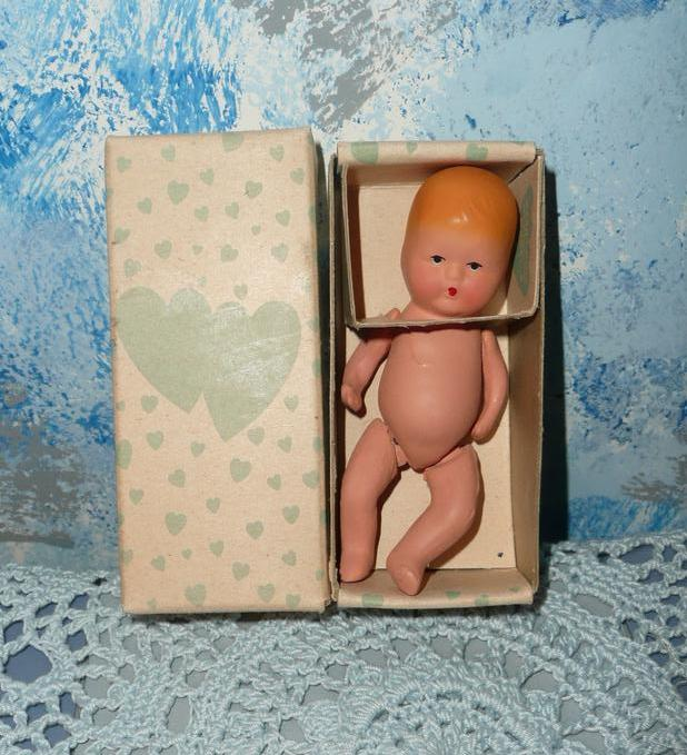 Vintage Bisque  Baby Doll Kerr & Minz *MIB