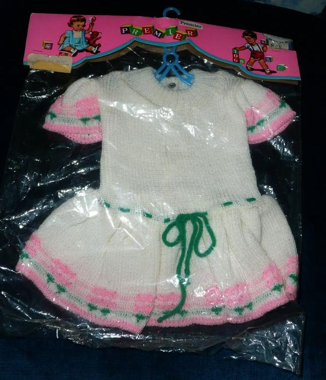 "1960 PREMIER Doll Tog Knitted Dress for 20-21"" Dolls"