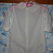 Vintage White  Baby Robe for large/tall  Doll