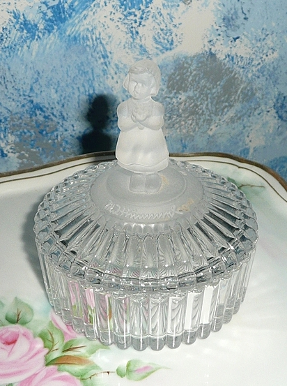 1993  Goebel J.M. Hummel  Girl with Flowers  Lead Crystal Box *Signed
