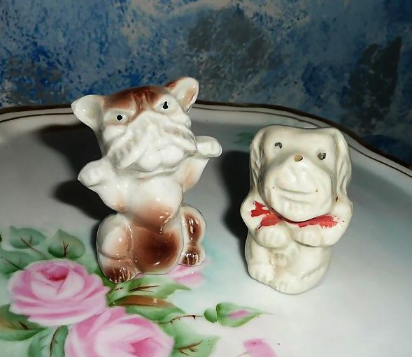 Two Vintage 'Bad Dogs' Bulldogs