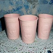 Vintage Pink GERBER Baby Food  Cup Set