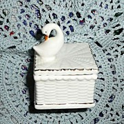 Vintage LEGO Swan Trinket/Pin Box