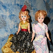 Two Vintage Cake/Birthday Dolls
