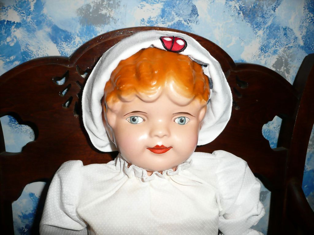 """25"""" Very Old  'AM DOLL'  Composition Advertising Doll"""