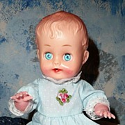 Cute Plastic Baby Doll Gorgeous Blue Eyes!