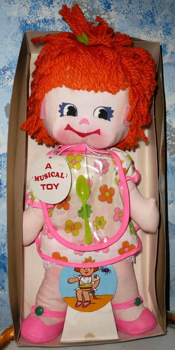 1971 Little Miss Muffet Musical Doll *NIB