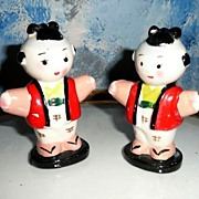 Japanese Children 'The Children of The Emperor' Salt and Pepper Shakers
