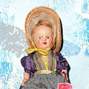 Little Souvenir  Glazing Eyes Doll from Switzerland