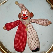 Cute 1977 'Cardinal Toys'  Bean Bag Red Clown