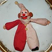 Cute 1977 'Cardinal Toys'  Bean Bag Red Clown