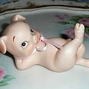 Lefton Cute Little Pink Pig