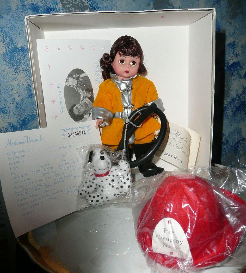 "#31270 Madame Alexander Doll 8"" Fire  Fighter  Wendy *Retired"