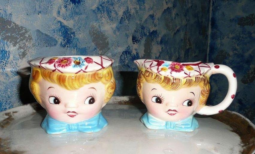 Miss Dainty Sugar Bowl  Dish and Creamer