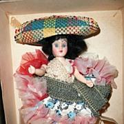 "'Habanera' 8"" 1950's Hard Plastic Doll in Box"