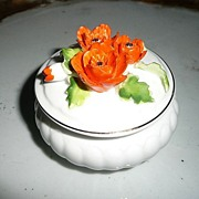 Pretty  Napcoware Poppies Flowers Dish