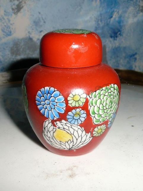 Old Japan Ginger Jar in Its Box