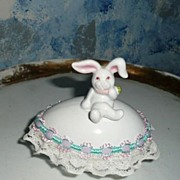 'Fitz and Floyd' Easter Bunny Bone China Egg Box