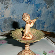 Italian Fountain Baby Boy with Flute Figurine