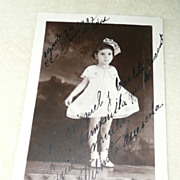 1937 Post Card Picture of Cuban Girl