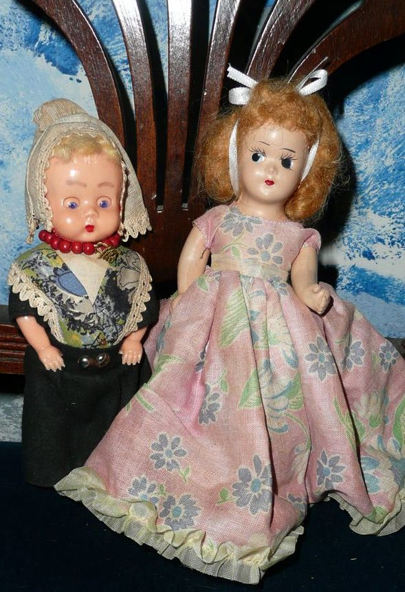 Lot of Two Small Dolls  Friends