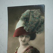 British Hand-Painted Postcard *circa 1910.