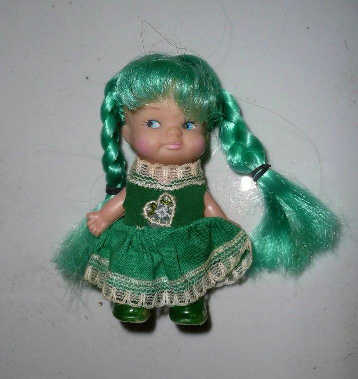 Pee Wee Ponytails Uneeda Green Hair Doll *NIB