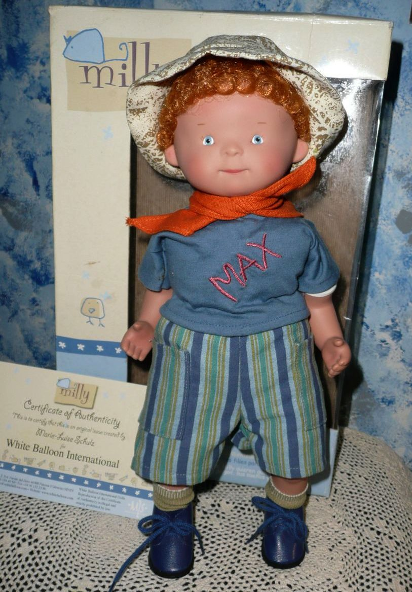 White Balloon MILLY  MAX Boy DOLL  Marie-Luise Schulz *NIB