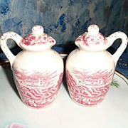 Vintage Water Jars Salt and Pepper Shakers