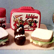 Vintage Miniature  Archie & Friends Lunch Box Set *1970's