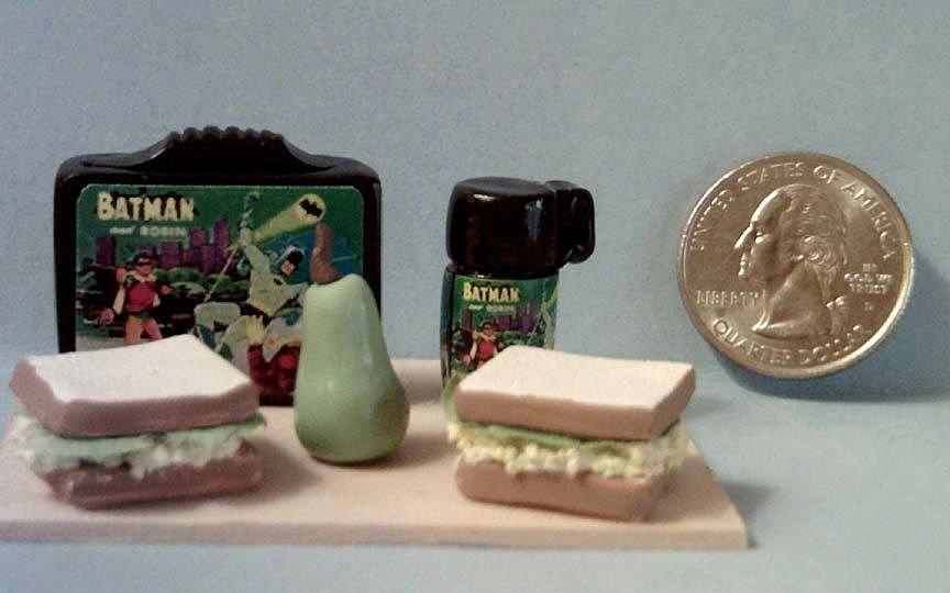 Vintage Miniature  Batman Lunch Box Set