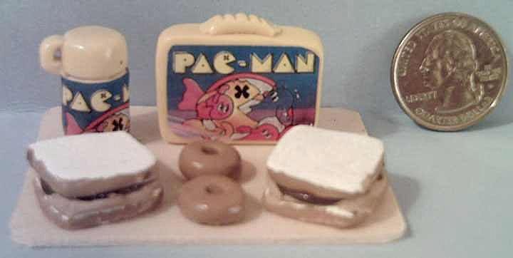 Vintage Miniature  Pac-Man  Lunch Box Set *1970's