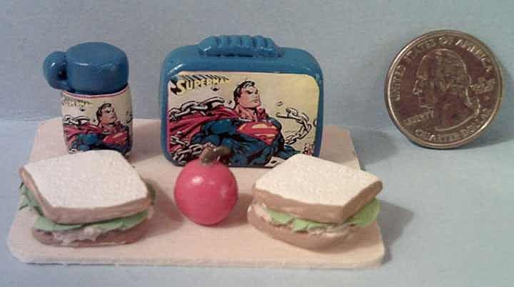 Vintage Miniature  Superman Lunch Box Set *1970's