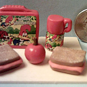 Vintage Miniature Woody Woodpecker   Lunch Box Set *1970's