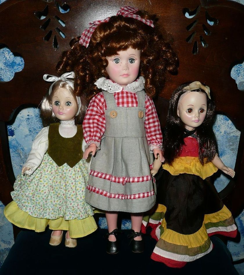 Lot of Three Vintage Effanbee Dolls