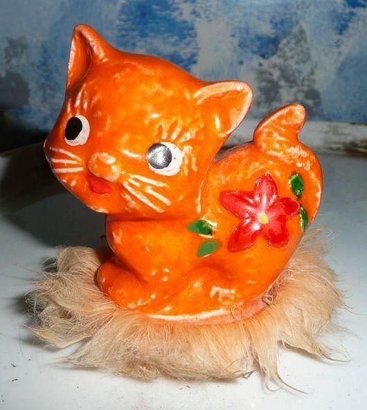 Cute Napcoware Imports Orange Cat with Fur