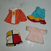Lot of Four Liddle Kiddle  Dresses